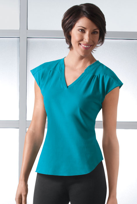 ActivComfort™ Activewear V-Neck Top - View 3