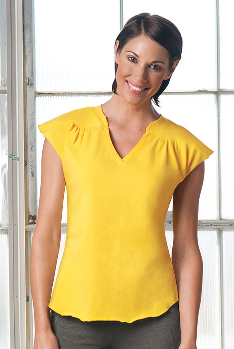 ActivComfort™ Activewear V-Neck Top - View 4
