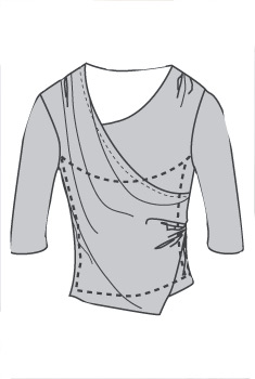 Slimfitters™ Asymmetrical Top - View 5