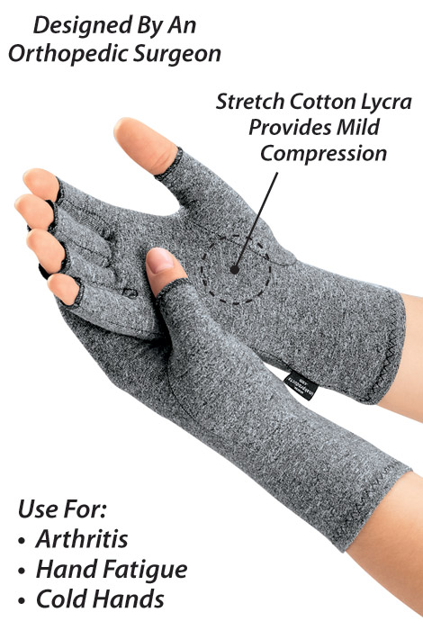 Lycra® Compression Gloves for Arthritis - View 2