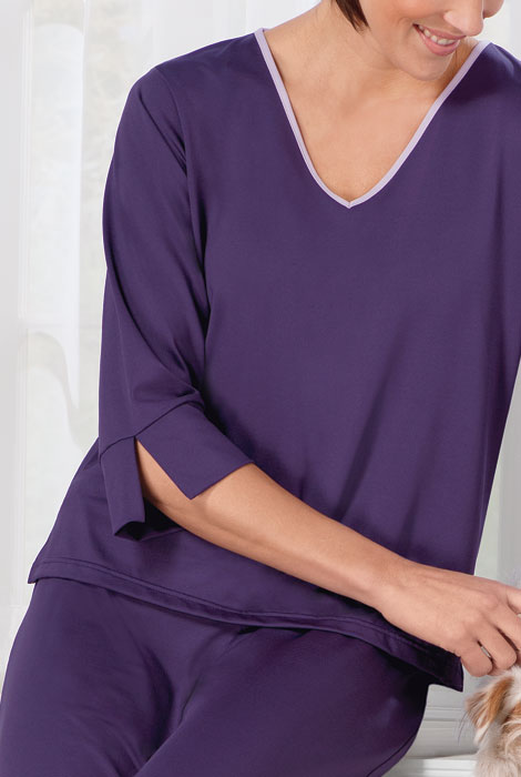 Goodnighties® Three Quarter Sleeve Top With Ionx® Technology - View 3
