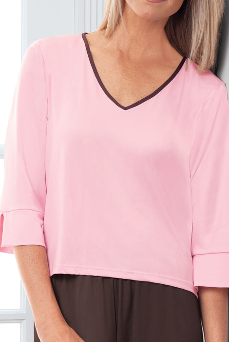 Goodnighties® Three Quarter Sleeve Top With Ionx® Technology - View 4