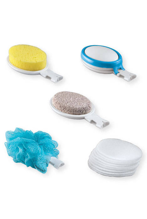 15 Piece Interchangeable Bath Sponges With Handle - View 2
