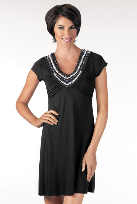 Embellished Knit Dressy Cover-Up - View 2