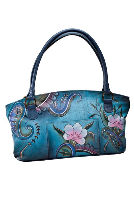 Anna By Anuschka™ Handpainted Leather Zip Tote - View 2