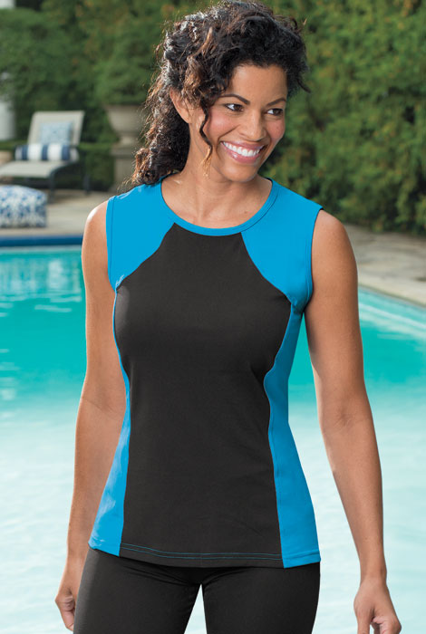 HydroChic™ Swim Sleeveless Top - View 3