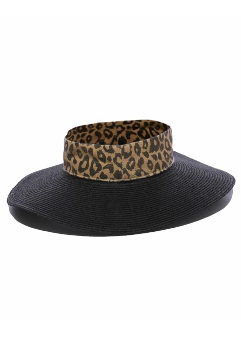 Adira Crownless Leopard Band Hat - View 2