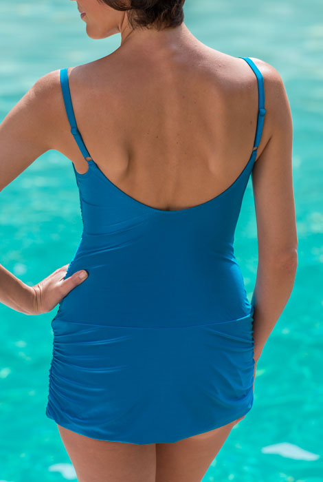 Gottex® Shirred Beauty Swim Dress - View 2
