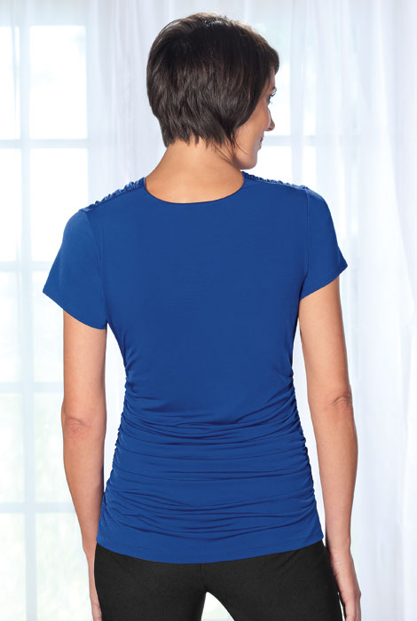 Slimfitters™ Gathered V Neck Top - View 4