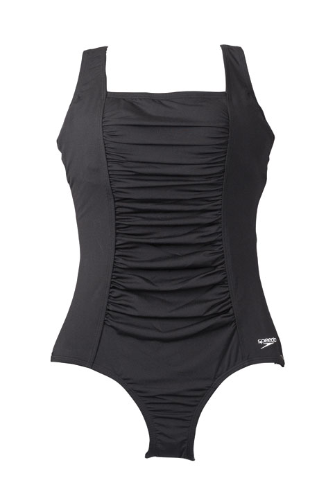 Speedo® Endurance Shirred Solid Tank Suit - View 3