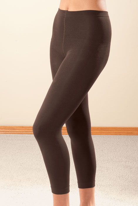 Footless Fleece-Lined Tights - 2 Pair - View 2
