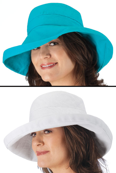 UPF 50+ Big Brim Hat by Scala - View 3