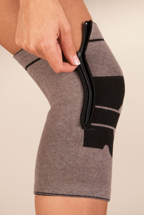 Magnetic Bamboo Knee Brace with Zipper - View 2
