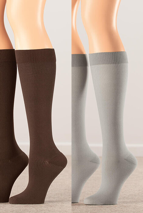 Silver Steps™ Compression Socks 15-20 mmHg - View 3