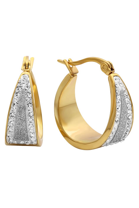 Diamond Dust Hoop Earrings - View 2