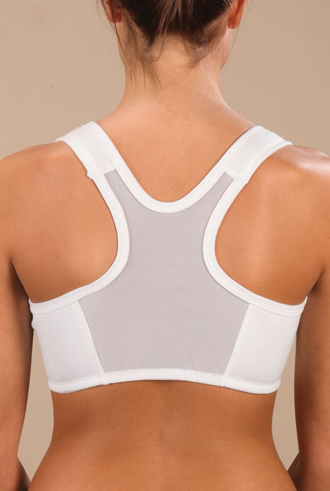 Easy Comforts Style™ Front-Zip Mesh-Back Bra - View 2