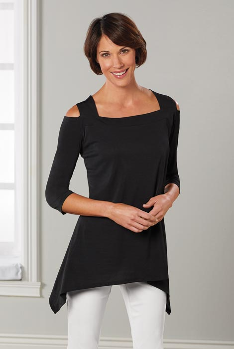 SlimU™ Cold Shoulder Tunic - View 3
