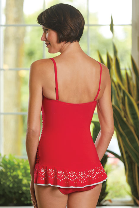 Profile by Gottex® Enchantment Laser Cut Swimdress - View 2