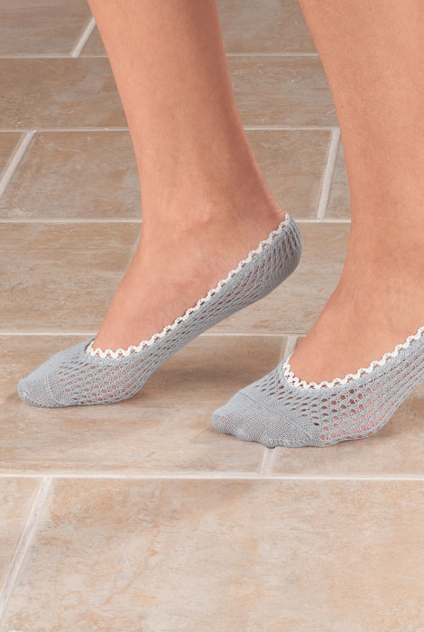 Lace Trim Cushioned Foot Liners, 1 pr. - View 2