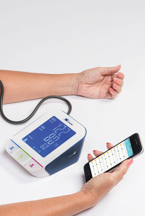 Zewa® Bluetooth Blood Pressure Monitor - View 3