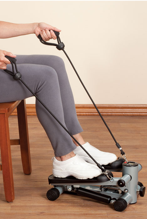 Seated Stepper with Resistance Bands - View 2