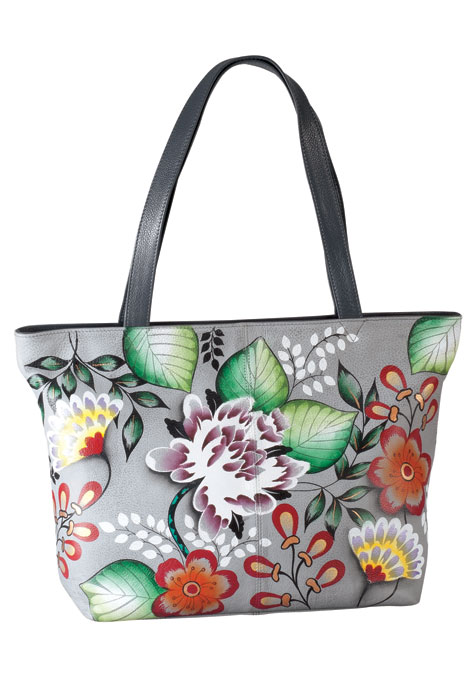 Anna Anuschka™ Handpainted Leather Zip Tote - View 2