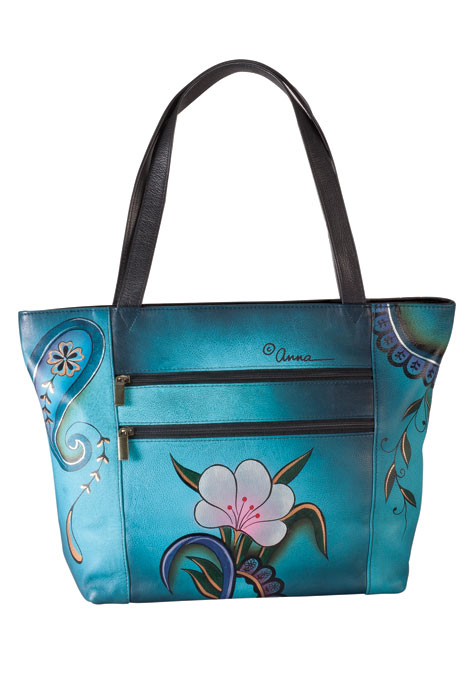 Anna Anuschka™ Handpainted Leather Zip Tote - View 3