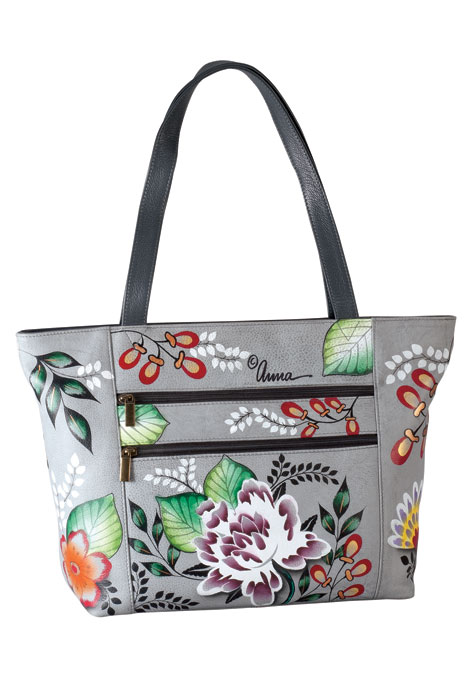 Anna by Anuschka Handpainted Leather Large Tote - View 4