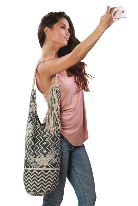 Paz Tote with Suede Tassle and Handle - View 2