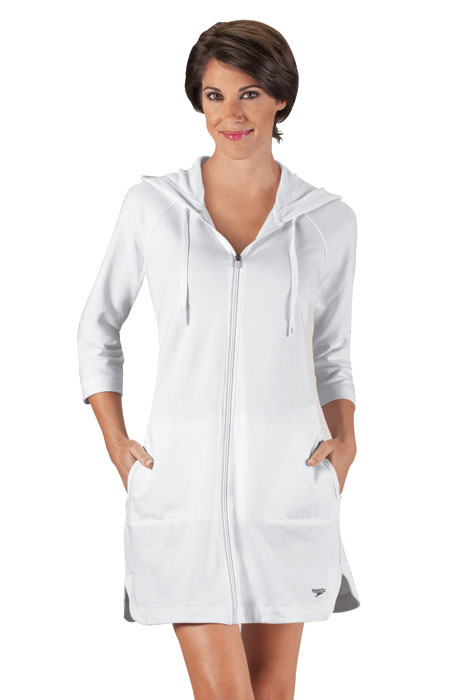 Speedo® Aquatic Fitness Hooded Terry Robe - View 2