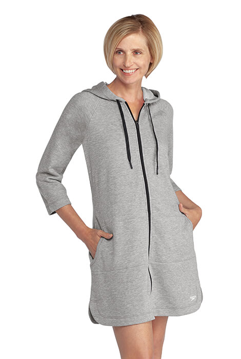 Speedo® Aquatic Fitness Hooded Terry Robe - View 3