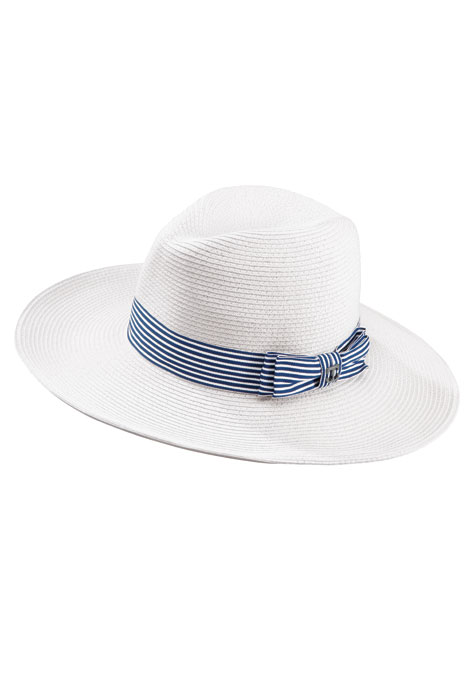 Scala® Braided Safari with Striped Ribbon Hat - View 2
