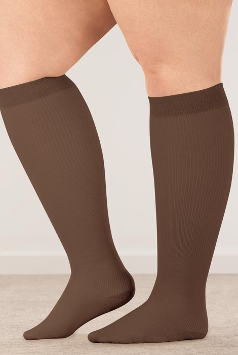 Healthy Steps™ Wide Calf Compression Socks, 15–20 mmHg - View 2