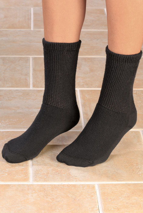 Healthy Steps™ 3 Pack Seamless Diabetic Socks - View 2