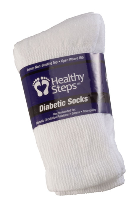Healthy Steps™ 3 Pack Seamless Diabetic Socks - View 3