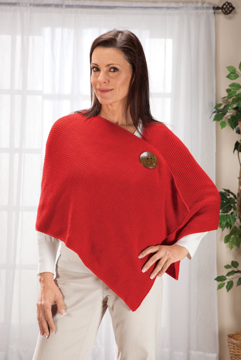 Big Button Shawl By Sawyer Creek Studio™​ - View 2