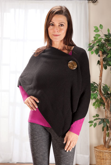 Big Button Shawl By Sawyer Creek Studio™​ - View 4