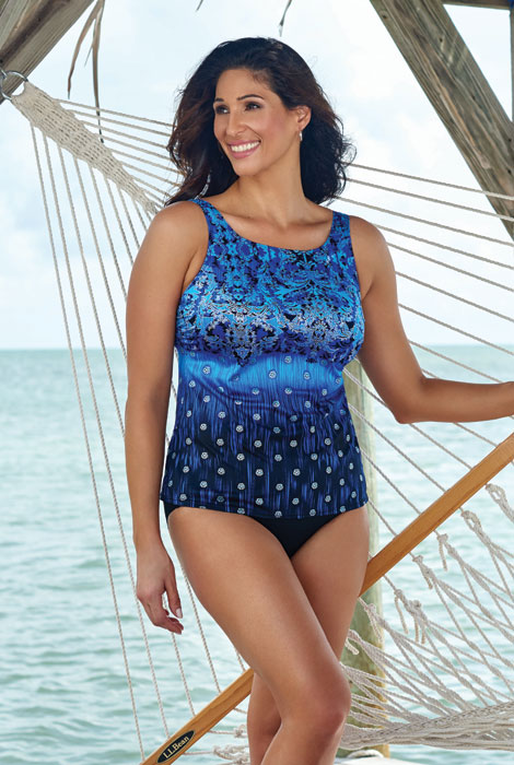 Longitude® Gilded Age Highneck Tankini Top - View 3