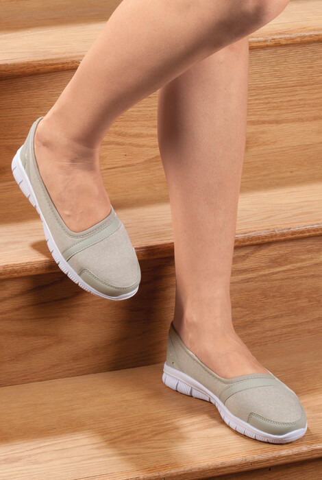 Silver Steps™ Feather Lite Slip-On Shoes - View 2