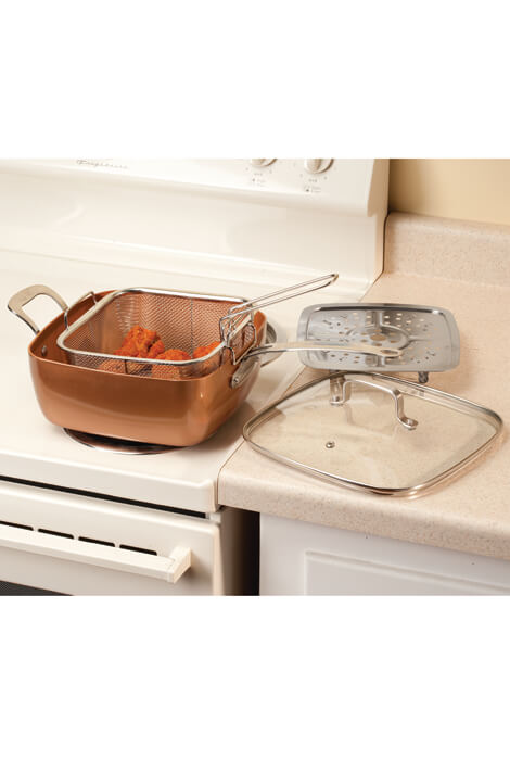 4 Pc Square Copper Cookware Pan Set Copper Pan As We