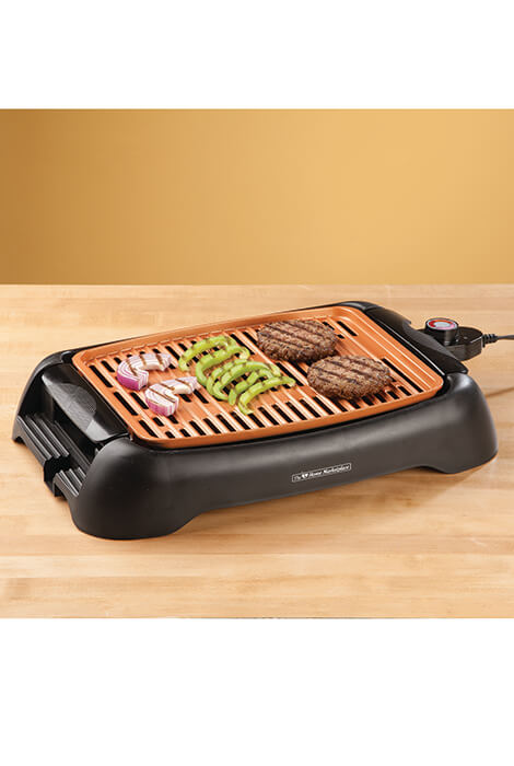 "NonStick Ceramic Copper 13"" Countertop Electric Grill By Home Marketplace  - View 2"