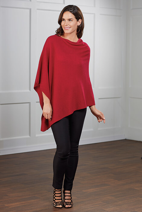 Wool & Cashmere Poncho - View 2