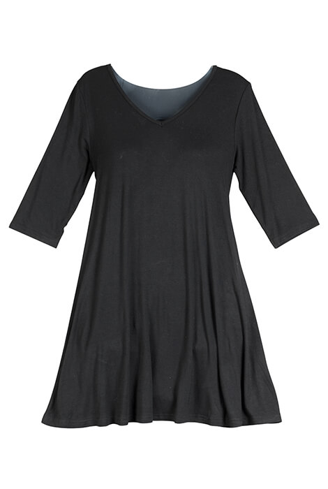 Black Tunic Top - View 2