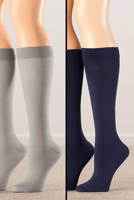 Healthy Steps™ Compression Socks 8-15 mmHg, 3 pair - View 3