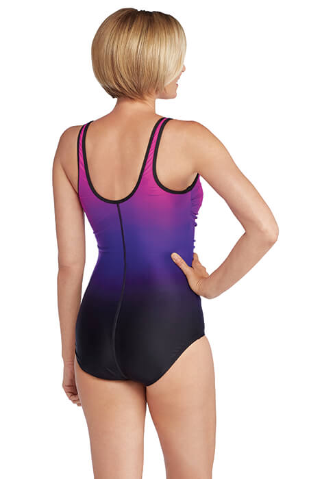 Speedo® Plunge Zip Ombre Swimsuit - View 2
