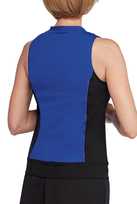 Speedo® Zip Front Tankini Top - View 3