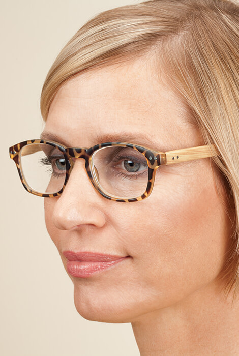 Reading Glasses with Wood Grain Bows, 2 Pair - View 3