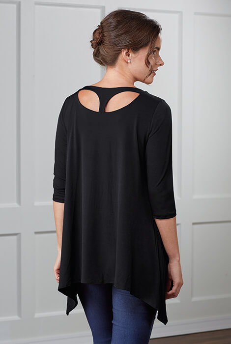 slimU™ Back Detail Tunic - View 4