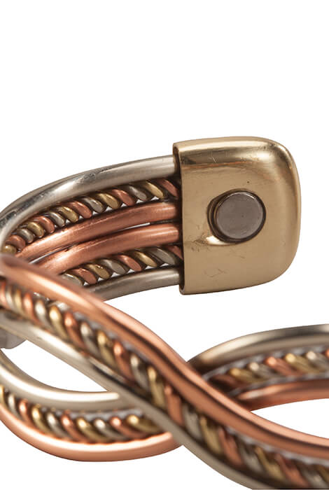 Magnetic Cuff Copper Braid Bracelet - View 2