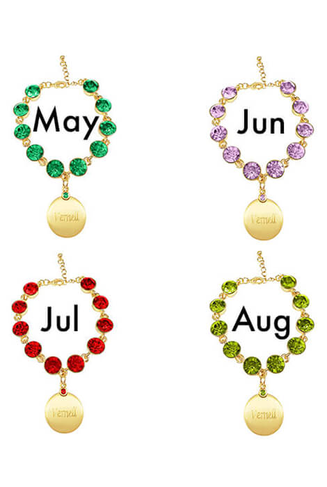 Personalized Birthstone Crystal Bracelet - View 3